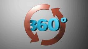 360 graus com as setas de gerencio azuis - vídeo da rendição 3D ilustração stock