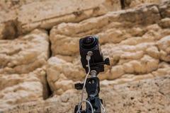 360 graus de sistema das câmaras de vídeo na produção filmada no Wes Fotografia de Stock Royalty Free