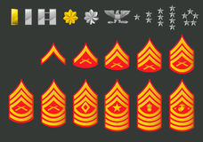 Graus do exército dos EUA Imagens de Stock