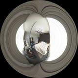graus esféricos da ilustração 3d 360, panorama sem emenda do bedr Foto de Stock