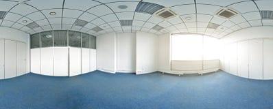 360 graus esféricos da projeção do panorama, panorama na sala vazia interior em apartamentos lisos modernos Imagem de Stock Royalty Free