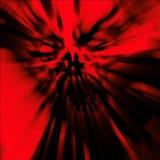 Grausamer Zombiekopf Illustration im Genre des Horrors stockbilder