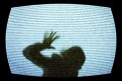 Grausigkeitfernsehapparat Stockfotos
