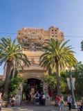 Grauzone: Hollywood-Turm-Hotelfahrt bei Disney Lizenzfreie Stockfotografie