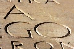 gravé disparaissent l'inscription Photographie stock libre de droits