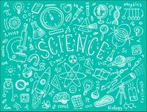 gravé tiré par la main dans le vieux style de croquis et de vintage formules et calculs scientifiques dans la physique et les mat Photographie stock libre de droits