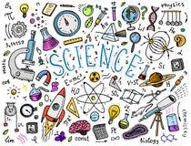 gravé tiré par la main dans le vieux style de croquis et de vintage formules et calculs scientifiques dans la physique et les mat illustration libre de droits
