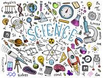 gravé tiré par la main dans le vieux style de croquis et de vintage formules et calculs scientifiques dans la physique et les mat Images stock