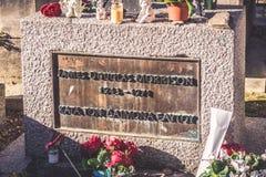 Grav av Jim Morrison arkivbild