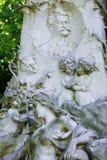 Grav av Johann Strauss i Wien, Österrike arkivbild