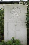Grav av soldaten för okända WW1 av det Warwickshire regementet Arkivbild