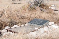 Grav på Rietfontein Waterhole från den Dorsland treken Thirstlan Royaltyfri Foto