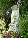 Grav på Zentralfriedhof Wien royaltyfri bild
