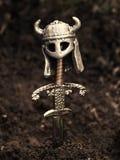 grav s viking Royaltyfri Bild
