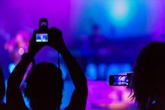 Gravação do concerto Fotos de Stock