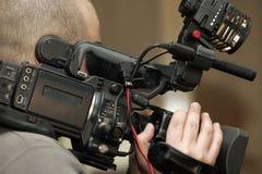 Gravação na câmara de vídeo Fotografia de Stock