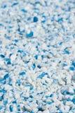 Grava azul y blanca Imágenes de archivo libres de regalías