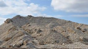 Grava de la piedra caliza de la montaña Fotografía de archivo