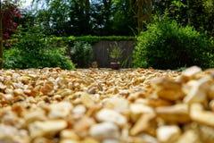 Grava en el jardín Fotografía de archivo