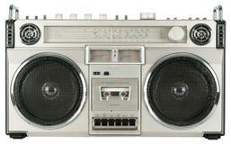 Gravador de cassetes de rádio do vintage Foto de Stock