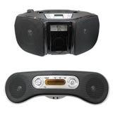 Gravador de cassetes do rádio portátil com o jogador CD/MP3 Fotos de Stock