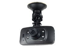 Gravador de vídeo da câmera do carro isolado Fotos de Stock