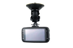 Gravador de vídeo da câmera do carro isolado no fundo branco Imagens de Stock Royalty Free