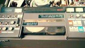 Gravador profissional da televisão de VHS vídeos de arquivo