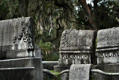 Gravar av Bonaventure Cemetery Arkivfoto