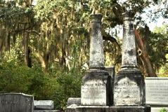 Gravar av Bonaventure Cemetery Royaltyfri Bild