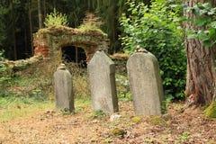 Gravar på judisk kyrkogård Arkivbild