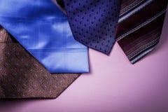 Gravatas coloridas Imagens de Stock Royalty Free