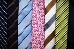 Gravatas coloridas imagem de stock