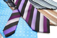 Gravatas da cor da variedade Fotografia de Stock