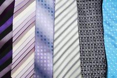 Gravatas da cor da variedade Imagem de Stock