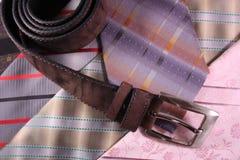 Gravatas e correia Fotografia de Stock