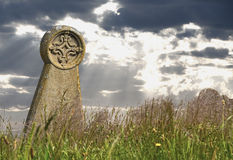 Grave. Ancient grave in an old cemetery royalty free stock images