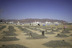 Grave of the al-baqi. Medina, Saudi Arabia - December 15, 2016; The grave of the al-Baqi, in medina. Al-Baqi located to the southeast of the Masjid al-Nabawi The Stock Photo
