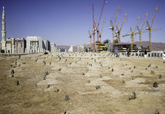 Grave of the al-baqi and surrounding. Medina, Saudi Arabia - December 15, 2016; The grave of the al-Baqi, in medina. Al-Baqi located to the southeast of the Stock Photos
