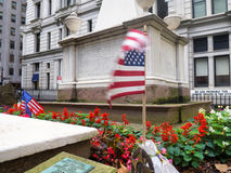 The grave of Alexander Hamilton at the Trinity Church Cemetery i Stock Photography