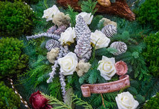 Grave Arrangement in Winter Royalty Free Stock Photography