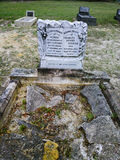 Grave with broken stones. Royalty Free Stock Image