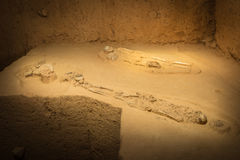 Grave burial skeleton human bones at Thailand Royalty Free Stock Photography
