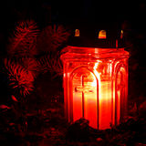 Grave Candle Royalty Free Stock Images