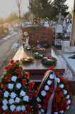 Grave of Ceausescus, Ghencea, Bucharest, Romania stock photography