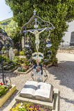 Grave at a cemetery in Traunkirchen Stock Photography