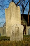 Grave - Christian. Photo of a Christian grave stone with a cross on it Royalty Free Stock Image