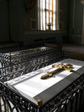 Grave in church Saint Petersburg Stock Photography