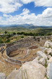 Grave circle A in Mycenae, Peloponnese, Greece Royalty Free Stock Photos