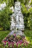 Grave of composer Johann Strauss  in  Cemetery in Vienna Royalty Free Stock Photo